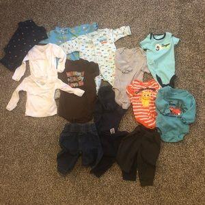 Baby boy basics 14 piece bundle/Lot